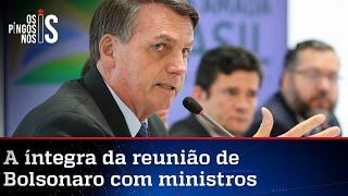 CONFIRA NA ÍNTEGRA VÍDEO DA REUNIÃO DE BOLSONARO COM MINISTROS