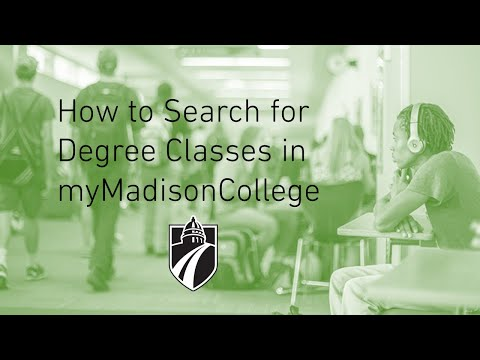 Class Search for Degree Career