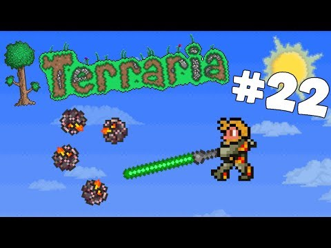 Let's Play Terraria Android Edition -Crafting the Lightsaber & Getting Meteorite Ore!- Episode 22