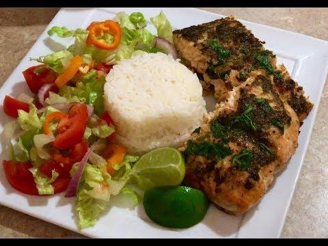 Quick Simple 6 Ingredient Fresh Baked Cilantro Lime Salmon