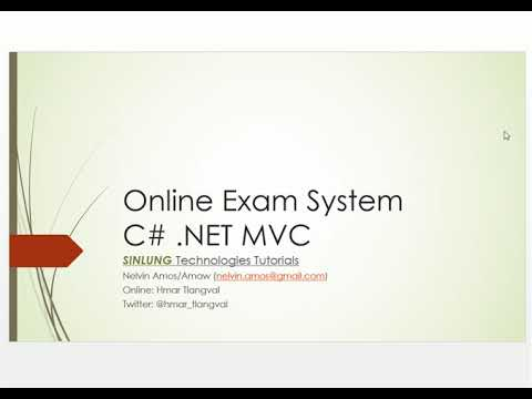 Creating Online Exam/Test System using C# .Net MVC Step by step Part 1