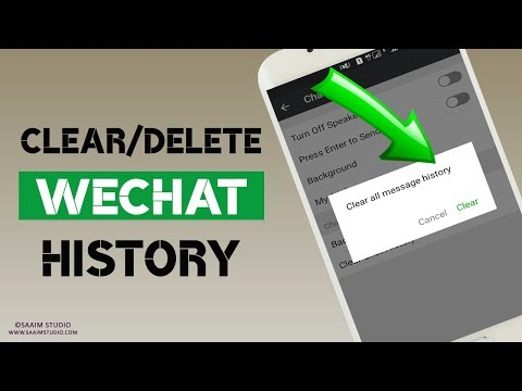 How to delete/clear WeChat chat history?