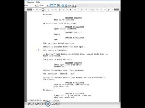 Screenplay Formatting 101: Even More Double Dashes!