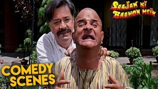 Deven Verma Comedy Scenes | Saajan Ki Baahon Mein | Rishi Kapoor, Raveena | HD