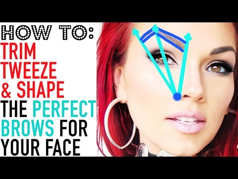 HOW TO GET PERFECT BROWS: How to Tweeze, Trim & Shape Your Eyebrows: 2 Methods