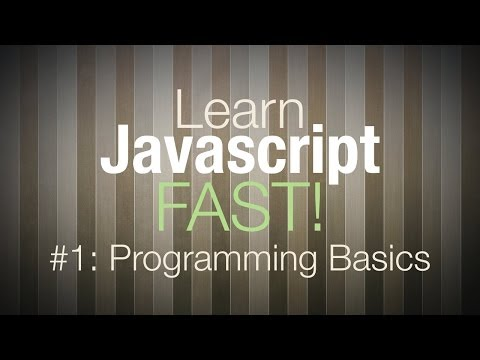 Javascript Tutorial - Programming Tutorial for Beginners Pt 1