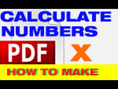 How to calculate numbers in a table using Adobe Acrobat X for beginners- MrTutorX