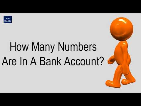 How Many Numbers Are In A Bank Account?