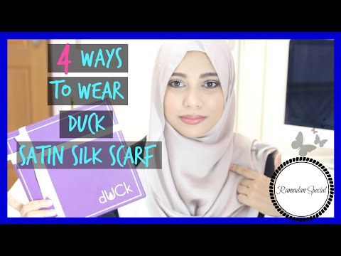 4 Way to Wear a Satin Silk Scarf Hijab | Ramadan Special #2