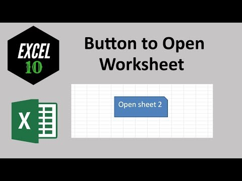 How to create button to open certain sheet in excel