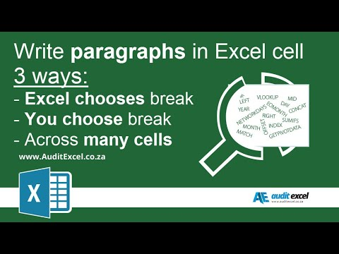 Write paragraphs in excel 2013