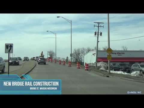Bridge Street Bridge Railing Installation Wausau  4.26.2018