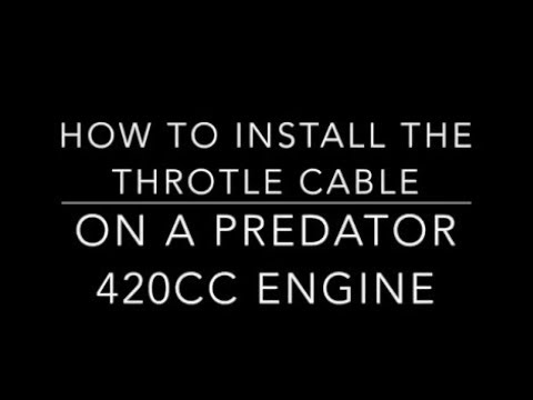 Simple and Easy!  Go Kart Throttle Install to Predator Engine 420cc - Part 7