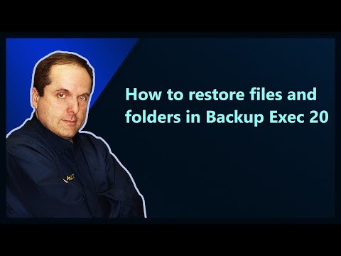 How to restore files and folders in Backup Exec 20