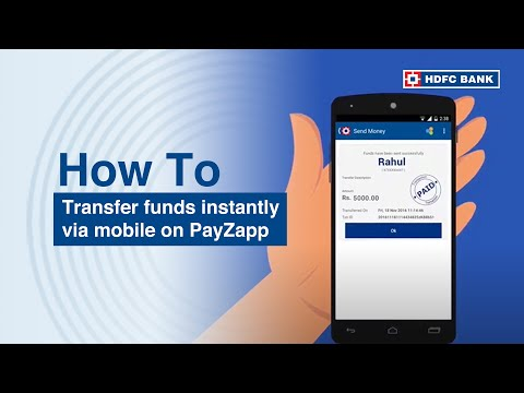 PayZapp Fund Transfer. How to use HDFC Bank's PayZapp to Instanly Transfer Funds/Money from Mobile