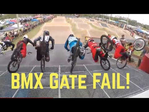 Elite Men BMX Gate FAIL! Everyone Crashes!