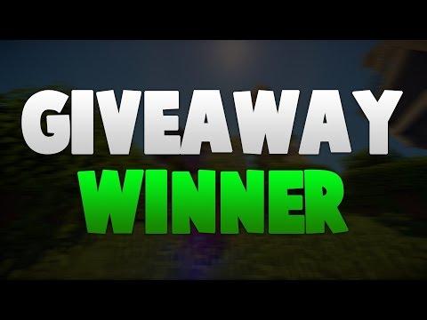 GIVE AWAY WINNER!!!!