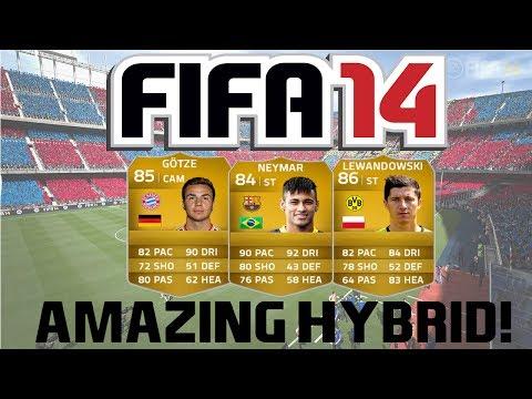 FIFA 14 Ultimate Team | 550k Amazing Hybrid Squad Builder ft. Neymar, Lewandowski and Gotze!