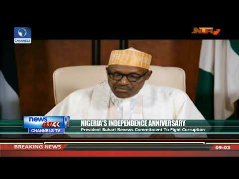 Nigeria@57: President Buhari Renews Commitment To Fight Corruption