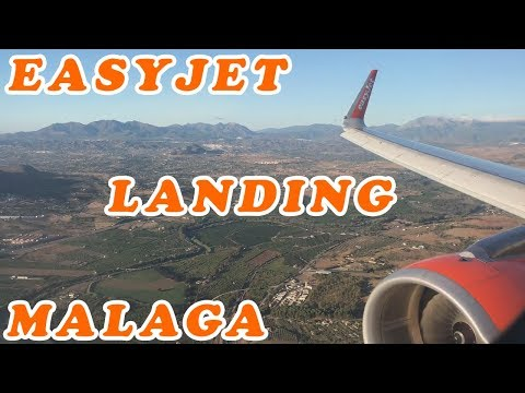 Easyjet A320 Landing Malaga