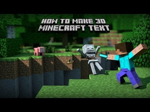 How to make 3d Minecraft text in photoshop cs3 extended!