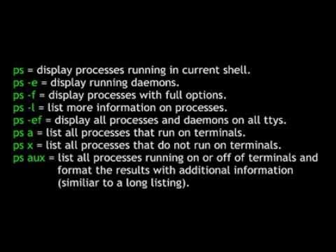 Process Control The ps Command