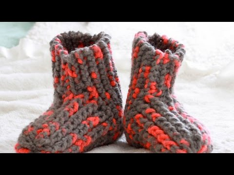 How To Knit Cute and Cozy Slippers - DIY Style Tutorial - Guidecentral