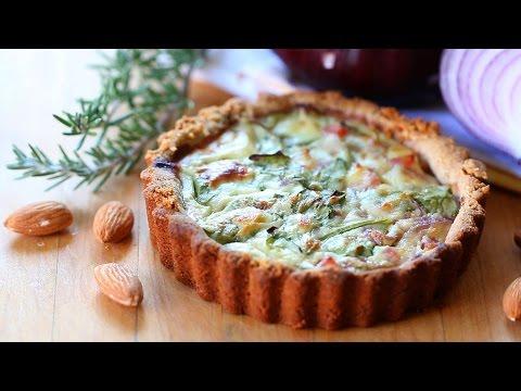 Gluten free ham and arugula quiche recipe