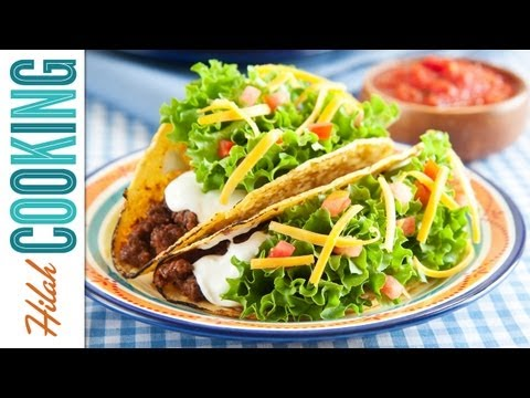 How To Make Tacos!!! Crispy Beef Taco Recipe | Hilah Cooking