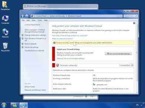 Windows 7 Check Firewall Settings