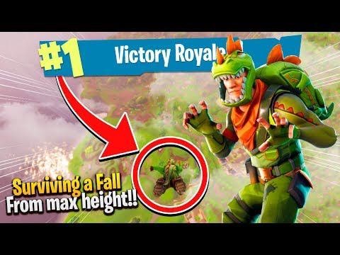 HOW TO SURVIVE A FALL FROM *MAX* HEIGHT! - FORTNITE (Victory Royale)