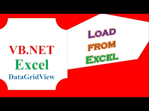VB.NET DataGridView Excel  - Load Data From Excel File