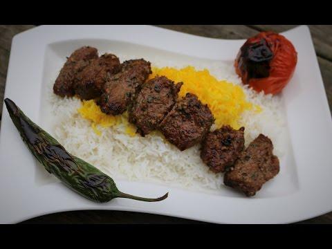 Persian Kabab Torsh (sour kebab) - Pomegranate Marinade kabobs Skewers