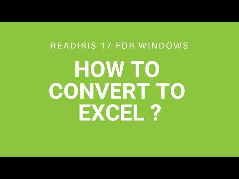 Readiris 17: Excel
