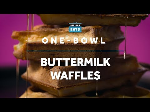 How to Make One-Bowl Buttermilk Waffles