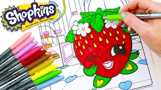 Shopkins Crayola Markers and Lippy Lips Coloring Page Toy Genie ...