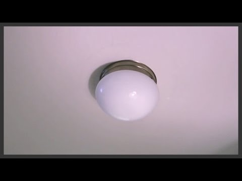 How to replace a ceiling light