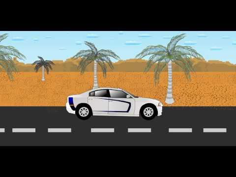 FLASH | CAR RUNNING ANIMATION