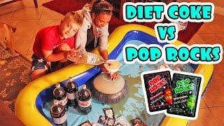 WUBBLE BUBBLE DIET COKE POP ROCKS EXPERIMENT!