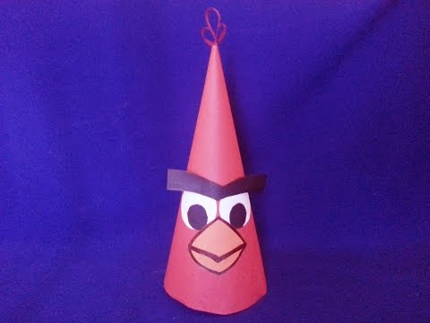 Как сделать Angry Birds из бумаги  How to Make a Paper Angry Bird