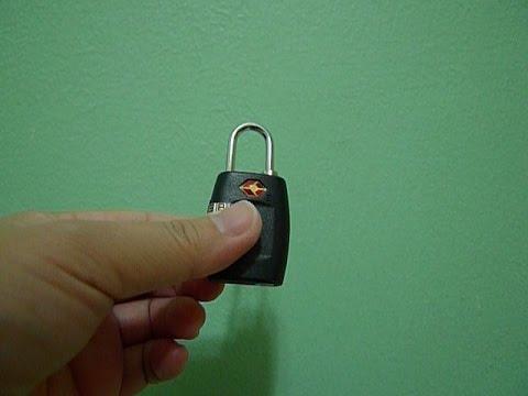 How to reset combination of TSA padlock