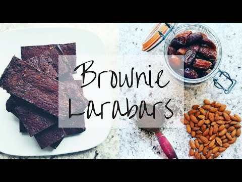 Chocolate Brownie Larabar Recipe  | 3 INGREDIENTS | Paleo & Vegan