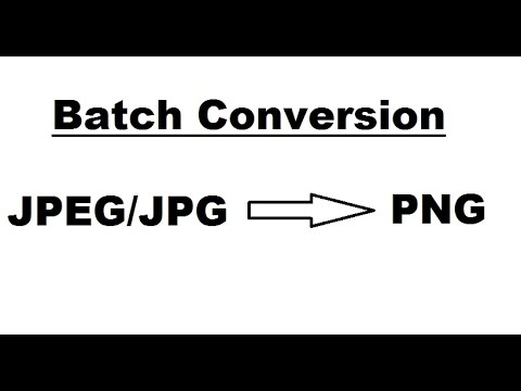 JPG to PNG; Batch conversion: Converting JPEG/JPG images to PNG images in a batch.