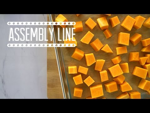How To Dice a Whole Butternut Squash | Assembly Line