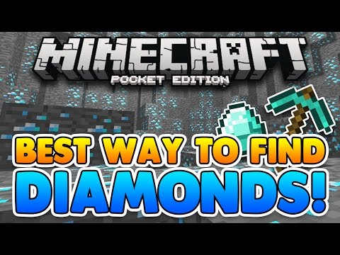 BEST WAY TO FIND DIAMONDS in MCPE!! Find Diamonds in less than 5 Minutes! Minecraft PE