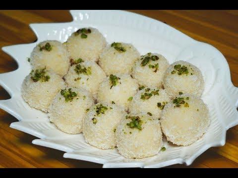 coconut ladoo with condensed milk | नारियल लड्डू रेसिपी | indian sweets | easy and quick