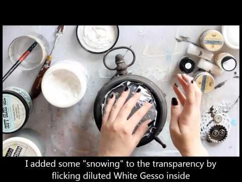 Clock snow globe - Finnabair Creative Team