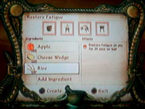 Oblivion IV- Alchemy leveling