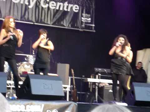 The Saturday's Performance in Sheffield City Centre Xmas Lights Switch On event