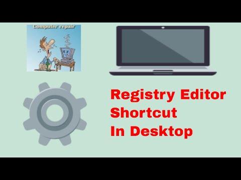 How to Create Shortcut for Registry Editor in desktop in windows 10 #computerrepair #techtip